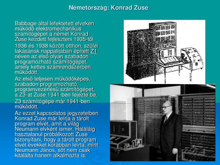 Németország: Konrad Zuse