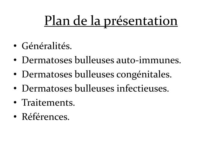 Plan de la