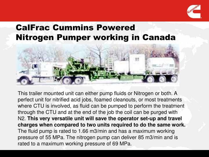 CalFrac Cummins Powered