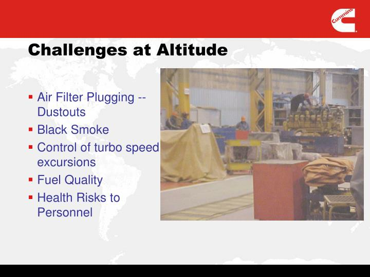Air Filter Plugging -- Dustouts