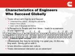 characteristics of engineers who succeed globally