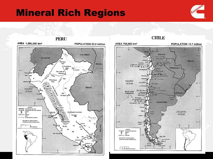 Mineral Rich Regions