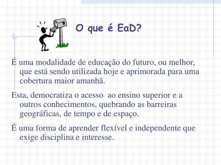 O que é EaD?