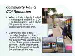 community rail co 2 reduction