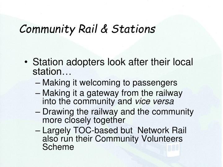 Community Rail & Stations