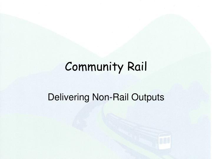 Community Rail