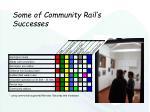 some of community rail s successes