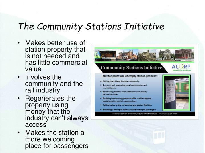 The Community Stations Initiative