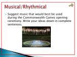musical rhythmical