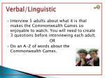 verbal linguistic