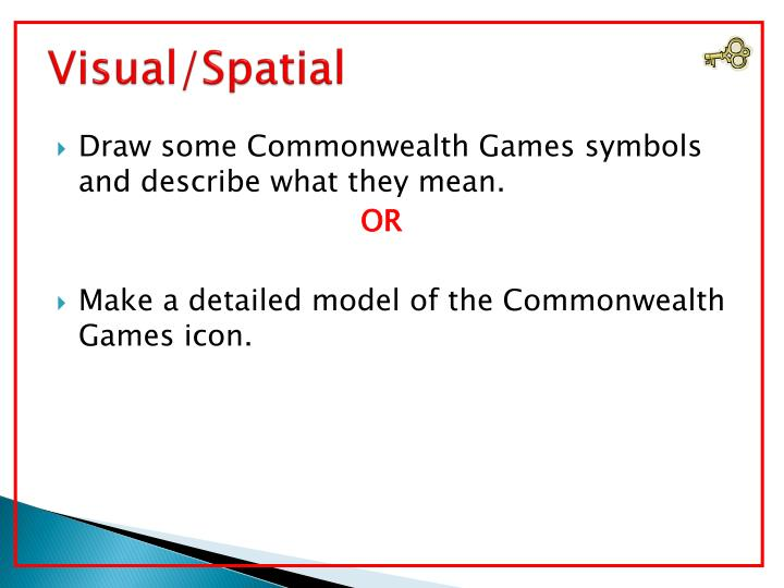 Visual/Spatial