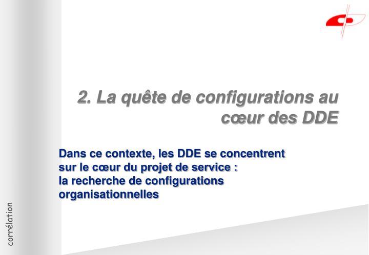 2. La quête de configurations au cœur des DDE