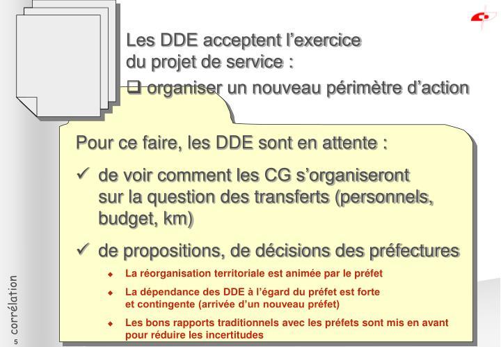 Les DDE acceptent l'exercice