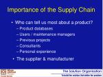 importance of the supply chain
