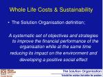 whole life costs sustainability