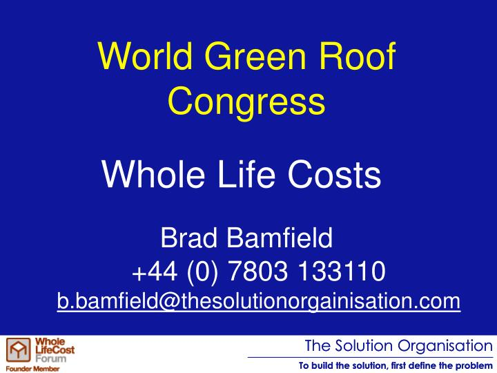 World green roof congress