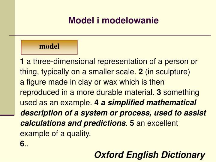 Model i modelowanie