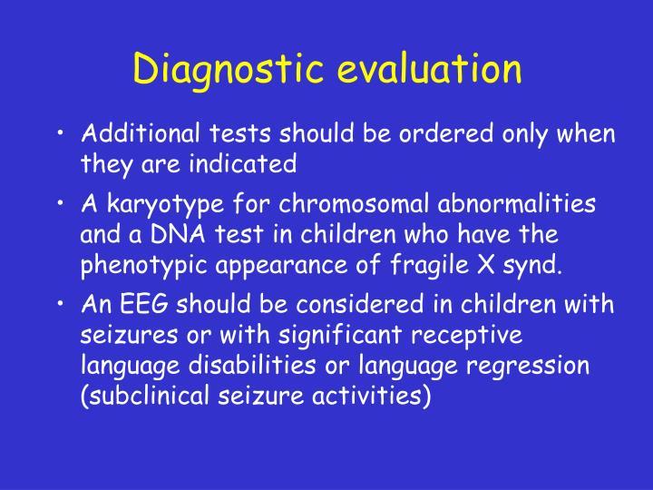 Diagnostic evaluation