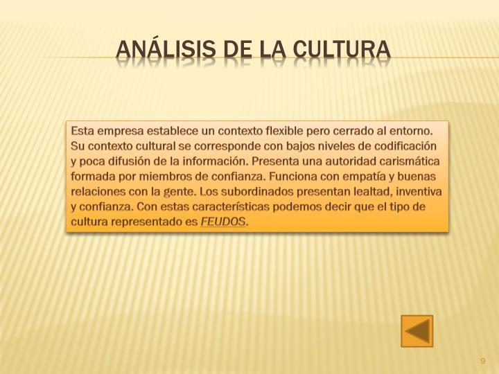 Análisis de la cultura