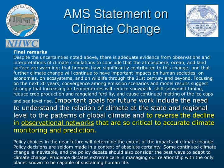 AMS Statement on
