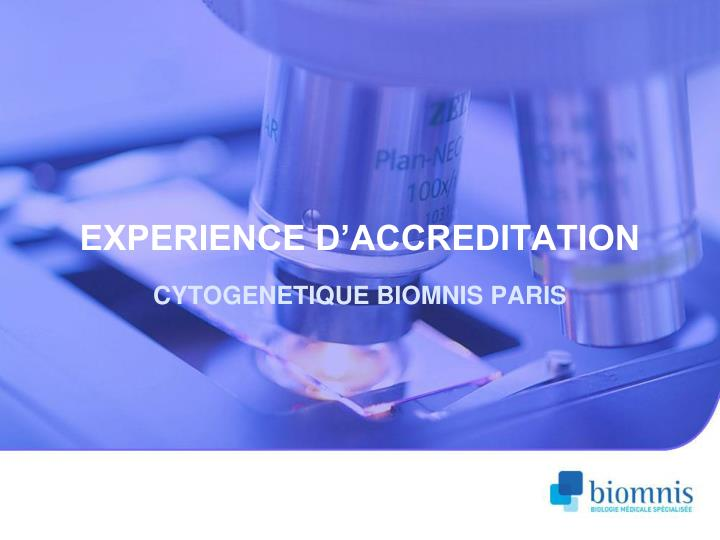 Experience d accreditation