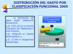 distribuci n del gasto por clasificaci n funcional 2005