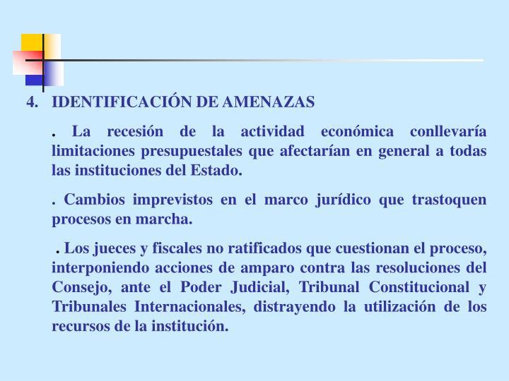 4.IDENTIFICACIÓN DE AMENAZAS