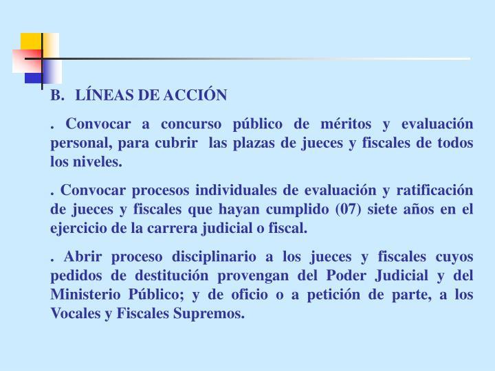 B.LÍNEAS DE ACCIÓN