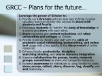 grcc plans for the future
