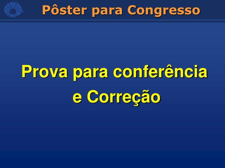 Prova para conferência