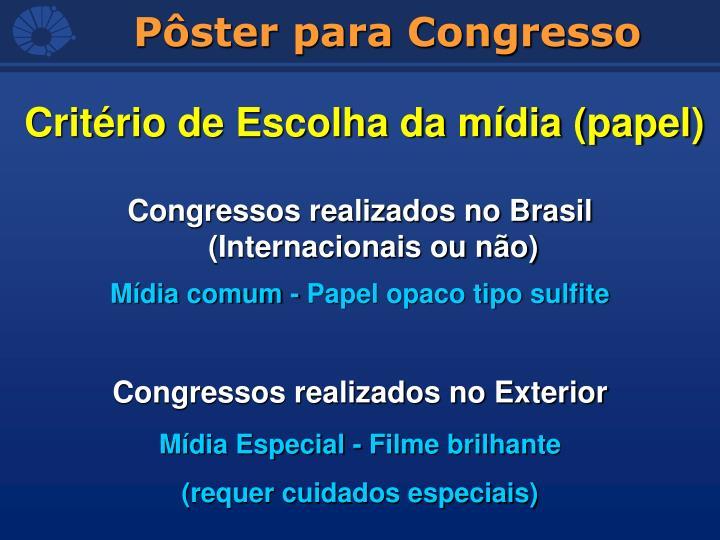 Congressos realizados no Brasil