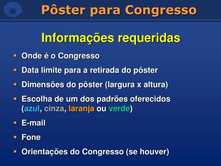 Onde é o Congresso