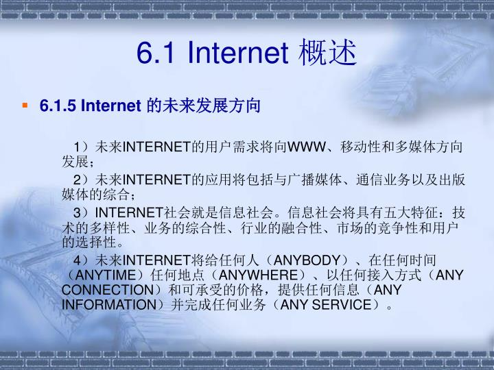 6.1 Internet