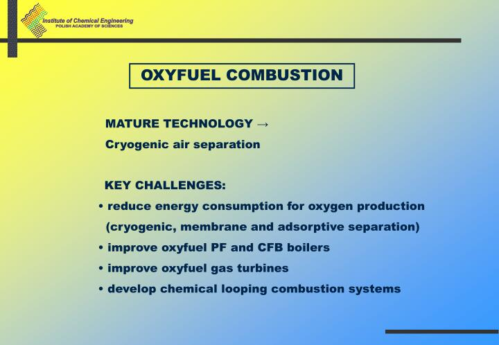 OXYFUEL COMBUSTION