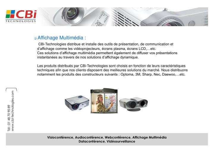 Affichage Multimédia :