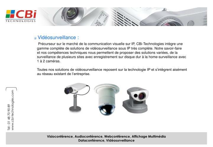 Vidéosurveillance :