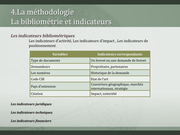 4.La méthodologie