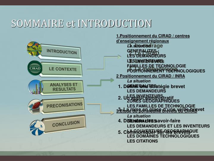 SOMMAIRE et INTRODUCTION
