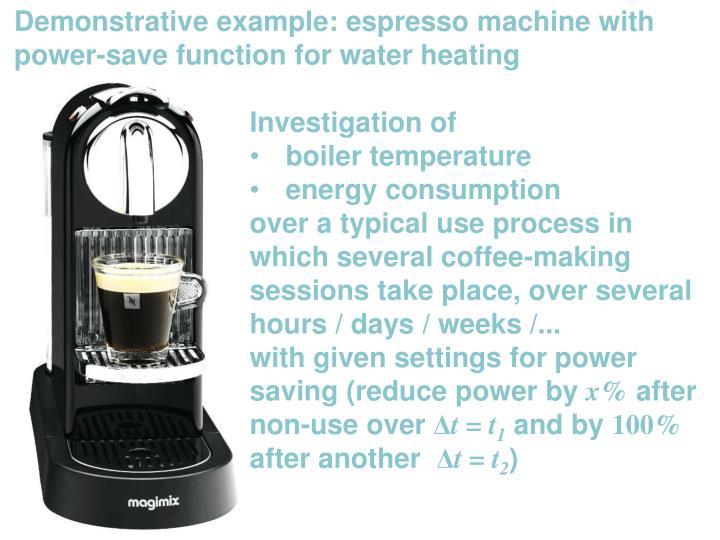 Demonstrative example: espresso