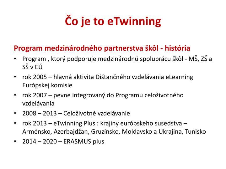 Čo je to eTwinning