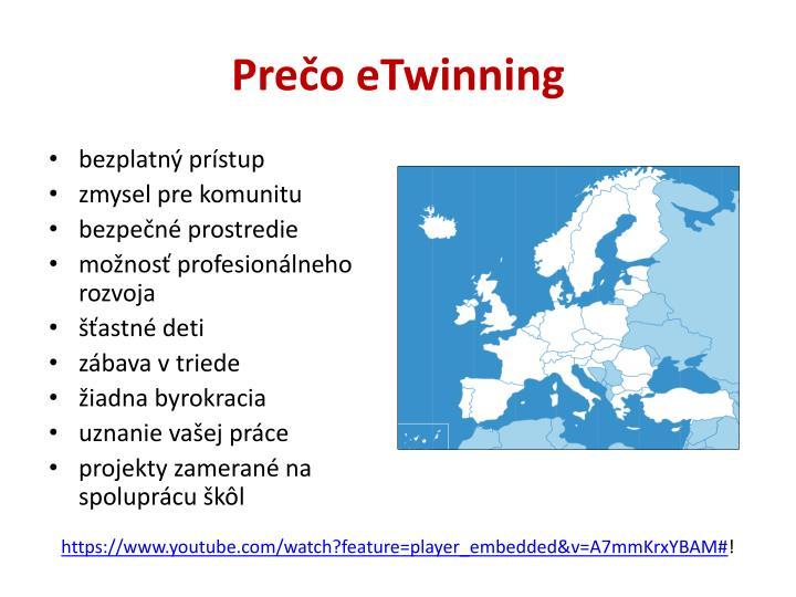 Prečo eTwinning