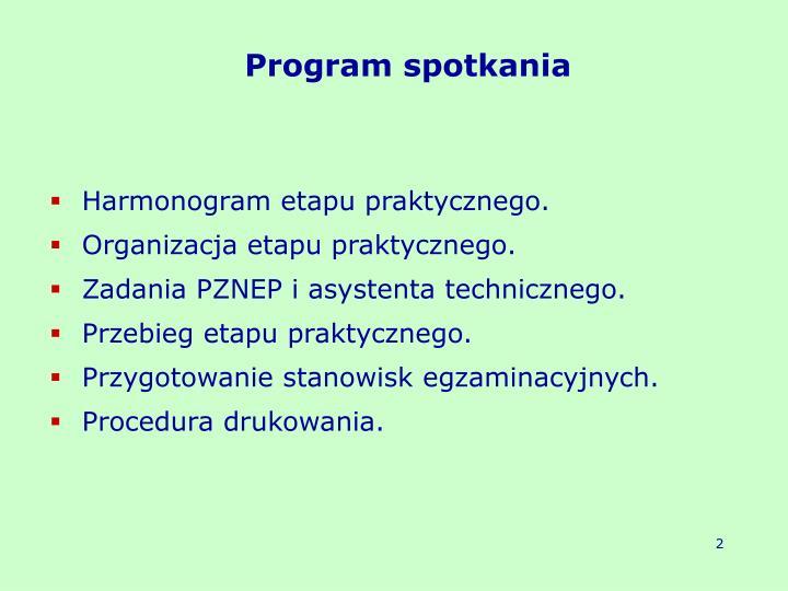 Program spotkania