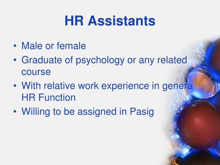 HR Assistants