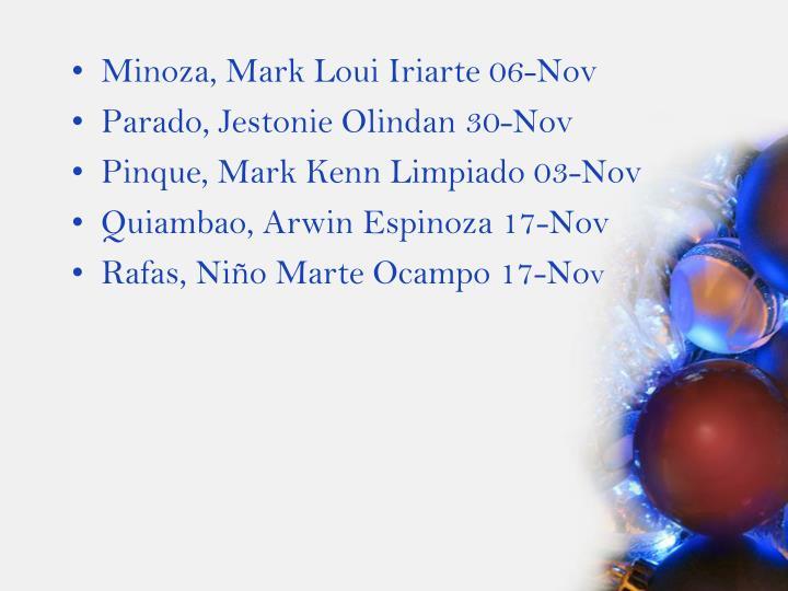 Minoza, Mark Loui Iriarte 06-Nov