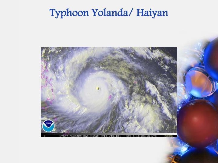 Typhoon Yolanda/
