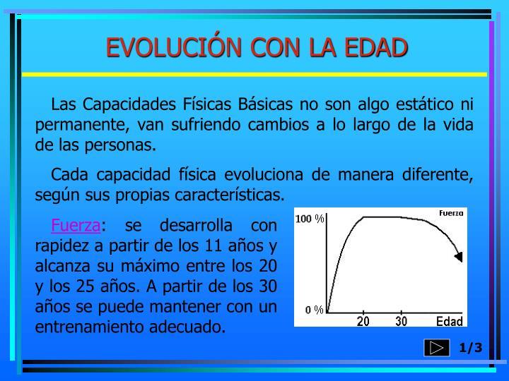 EVOLUCIÓN CON LA EDAD
