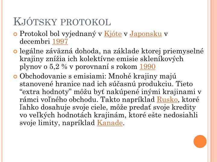 Kjótsky protokol