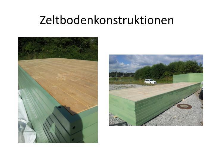 Zeltbodenkonstruktionen