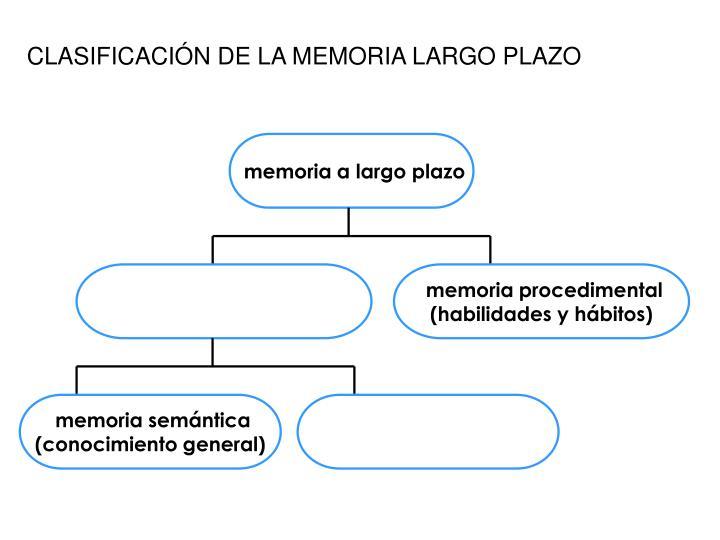 CLASIFICACIÓN DE LA MEMORIA LARGO PLAZO