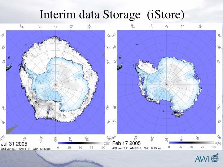 Interim data Storage  (iStore)